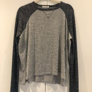 Rag & bone slouchy baseball tee high/low hem sz s